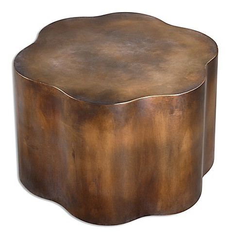 image of Uttermost Samey Oxidized Cooper Accent Table