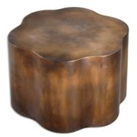 Uttermost Samey Oxidized Cooper Accent Table