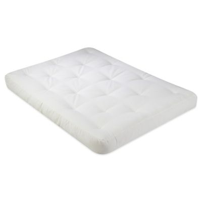 serta   hickory 6 inch thick foam full futon mattress in natural buy futon mattress from bed bath  u0026 beyond  rh   bedbathandbeyond