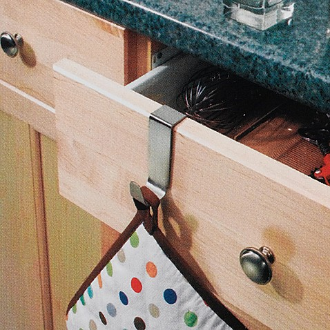 image of InterDesign® Forma Over-the-Cabinet Single Hook
