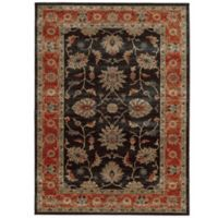 Tommy Bahama® Vintage 5-Foot 3-Inch x 7-Foot 6-Inch Rug in Black with Red Border