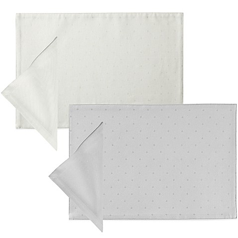 Kate spade new york larabee dot placemat and napkin bed for Bed bath and beyond kate spade