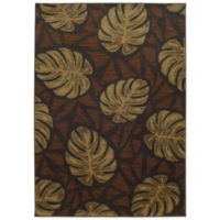 Tommy Bahama® Voyage 3-Foot 10-Inch x 5-Foot 5-Inch Leaf Rug in Brown