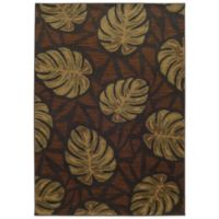 Tommy Bahama® Voyage 5-Foot 3-Inch x 7-Foot 6-Inch Leaf Rug in Brown