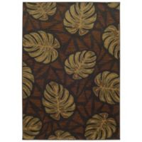 Tommy Bahama® Voyage 6-Foot 7-Inch x 9-Foot 6-Inch Leaf Rug in Brown