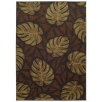 Tommy Bahama® Voyage 9-Foot 10-Inch x 12-Foot 10-Inch Leaf Rug in Brown
