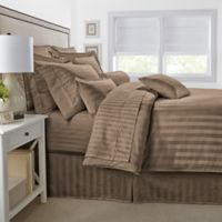 500-Thread-Count Damask Stripe King Pillow Sham in Canvas
