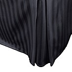500-Thread-Count Damask Stripe Full Bed Skirt in Black