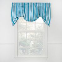 Piper Stripe Tie Up Valance in Teal