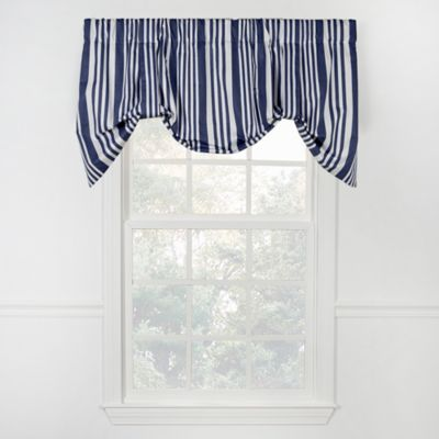 swag ticking custom kitchen blue topper valance target geometric valances cornice window treatment in curtains at grey aqua bathroom navy curtain board and covering modern