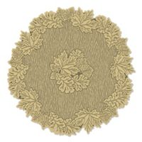 Heritage Lace® Leaf 36-Inch Round Table Topper in Goldenrod