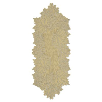 Heritage Lace® Leaf 36 Inch Table Runner In Goldrenrod