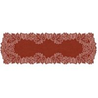 Heritage Lace® Leaf 60-Inch Table Runner in Dark Paprika