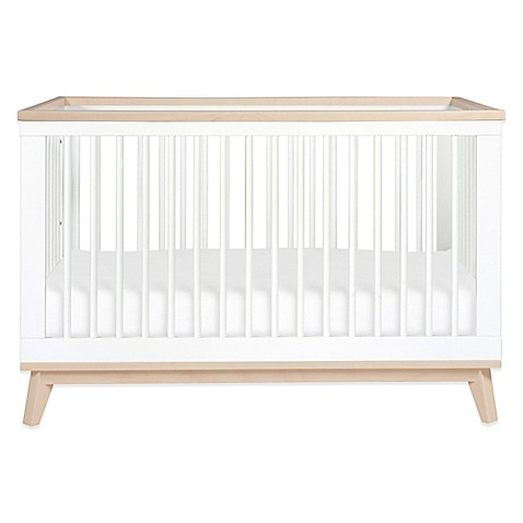 Beautiful Babyletto Scoot 3-in-1 Convertible Crib in White/Washed Natural  GM36