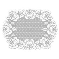 Heritage Lace® Cottage Rose Placemat in White