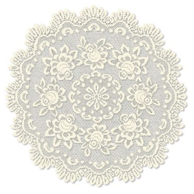 Heritage Lace® Rose 30 Inch Round Table Topper In Ecru