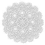 Heritage Lace® Rose 30-Inch Round Table Topper in Off-White