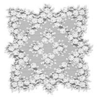 Heritage Lace® Tea Rose 30-Inch Table Topper in White