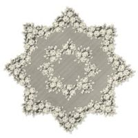 Heritage Lace® Tea Rose 42-Inch Round Table Topper in Ecru