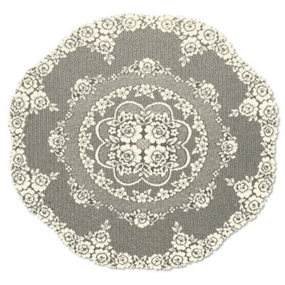 Heritage Lace® Victorian Rose 43 Inch Round Table Topper In Ecru
