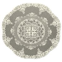 Heritage Lace® Victorian Rose 43-Inch Round Table Topper in Ecru