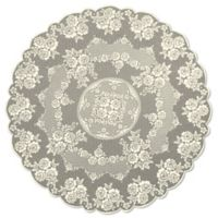 Heritage Lace® Victorian Rose 72-Inch Round Tablecloth in Ecru