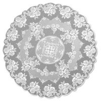 Heritage Lace® Victorian Rose 72-Inch Round Tablecloth in White