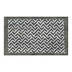 Adelaide 20-Inch x 33-Inch Bath Rug in White Chevron