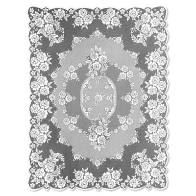 Heritage Lace® Victorian Rose 60 Inch X 84 Inch Tablecloth In White