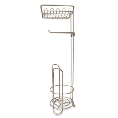 interdesign classico roll toilet paper stand plus with shelf
