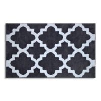 Adelaide 20-Inch x 33-Inch Bath Rug in White Fret