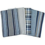 Kitchen Towels in Indigo/Pecan (Set of 5)