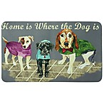 "Bacova ""Home is Where the Dog is"" 17.5-Inch x 29-Inch Kitchen Mat in Grey"