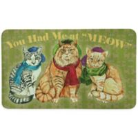 """Bacova """"You Had Me at MEOW"""" 17.5-INch x 29-Inch Kitchen Mat in Green"""