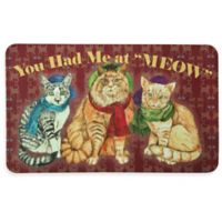 "Bacova 17.5-Inch x 29-Inch ""You Had Me at MEOW"" Kitchen Mat in Burgundy"