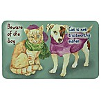 "Bacova ""Beware of Dog and Cat"" 17.5-Inch x 29-Inch Multicolor Kitchen Mat"
