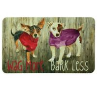 """Bacova 17.5-Inch x 29-Inch """"Wag More Bark Less"""" Kitchen Mat in Beige"""