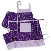 Garnier-Thiebaut Scrabble Lavande 4-Piece Kitchen Linens Set in Lavender