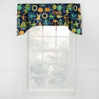 Sea Point Arch Valance in Navy