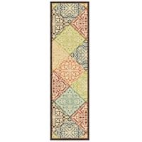 Aria Rugs Veranda Collection 2-Foot 3-Inch x 8-Foot Whitten Runner in Multicolor