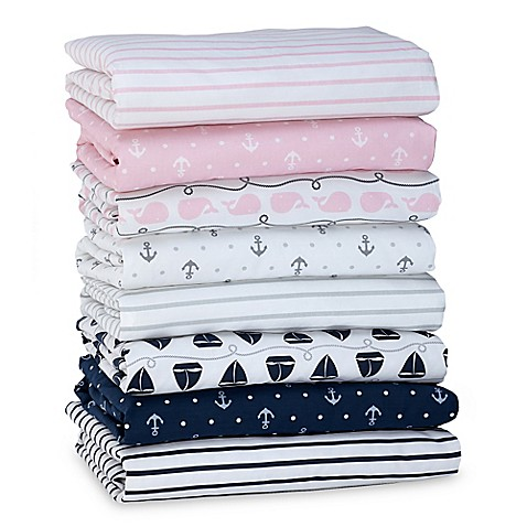 Nautica Kids 174 Mix Amp Match Nautical Fitted Crib Sheet Collection Buybuy Baby