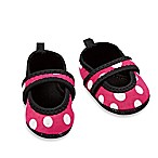 nufoot Always-On Size 0-6M Polka Dot Slipper in Pink