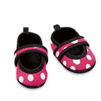 nufoot Always-On Size 12-24M Polka Dot Slipper in Pink