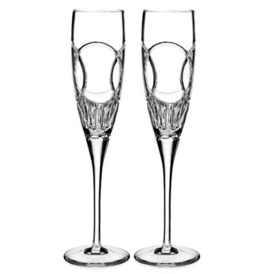Waterford Love Wedding Vows Toasting Flutes Set Of 2