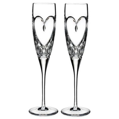 Waterford Love True Toasting Flutes Set Of 2
