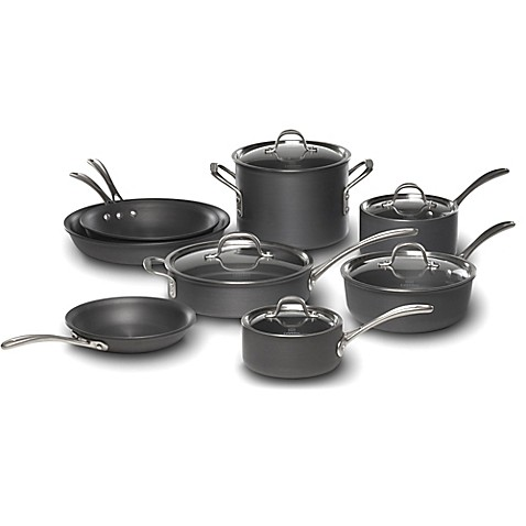Calphalon 174 Commercial Hard Anodized 13 Piece Cookware Set