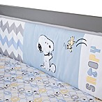 Lambs & Ivy® My Little Snoopy™ 4-Piece Crib Bumper Set