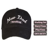 """countdowncaps™ """"New Dad"""" 5-in-1 Baseball Cap in Pink/Black"""