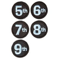 countdowncaps™ Mom to Be 5th-9th Month Numerals in Blue/Black
