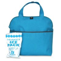 J.L. Childress MaxiCOOL™ Insulated 4-Bottle Cooler Tote in Teal/Grey